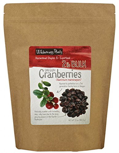 Wilderness Poets Oregon Cranberries (Sweetened with Apples) - Bulk Dried Cranberries, 2 lb (32 oz) (Cranberries Sweetened Dried)