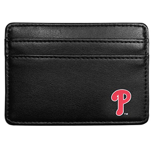 Siskiyou MLB Philadelphia Phillies Leather Weekend Wallet, Black