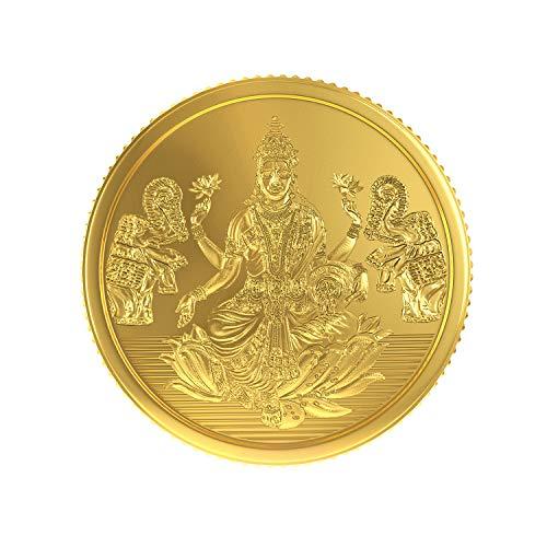 Joyalukkas 22k  916  4 gm BIS Hallmarked Yellow Gold Precious Coin with Lord Lakshmi Design