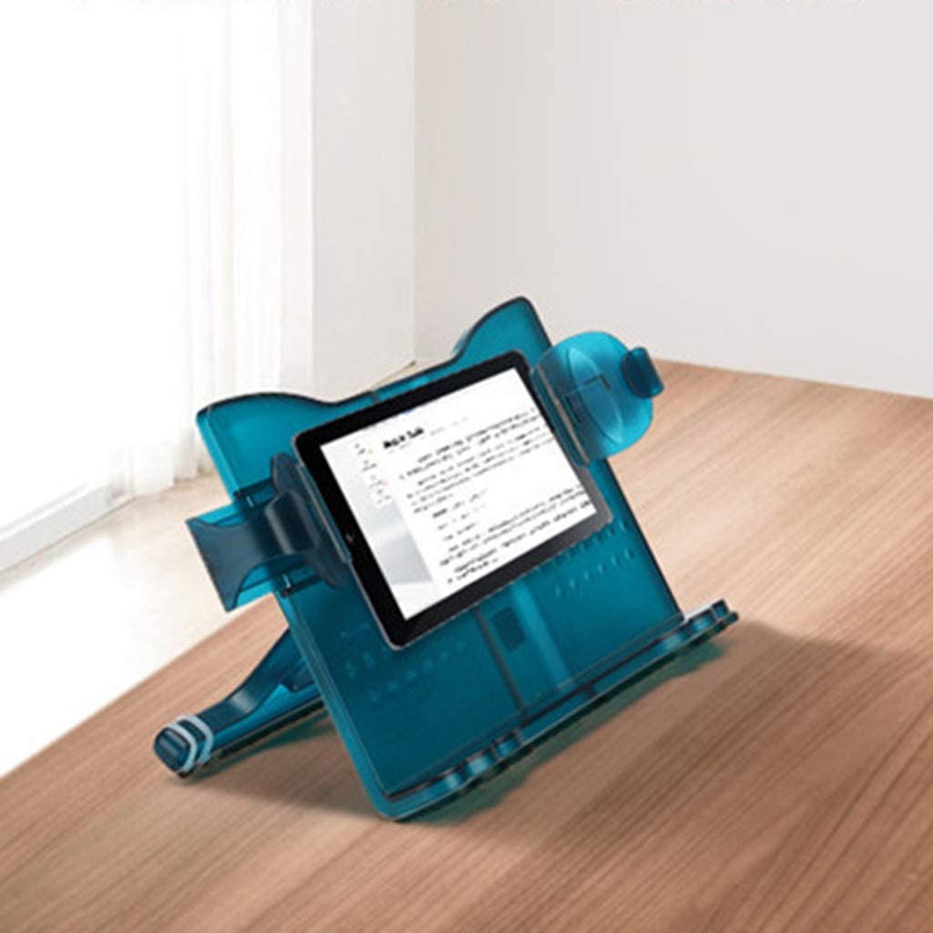 CADANIA Adjustable Angle Book Stand Holder Multifunctional Reading Document Bookrest Blue/&Green