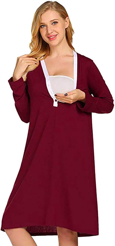 premamá Vestidos Bata de maternidad de maternidad Entrega Camisones Hospital Vestido de bata de lactancia materna vestidos largos tallas grandes Maternidad gestación vestido ropa atuendo vestir: Amazon.es: Ropa y accesorios