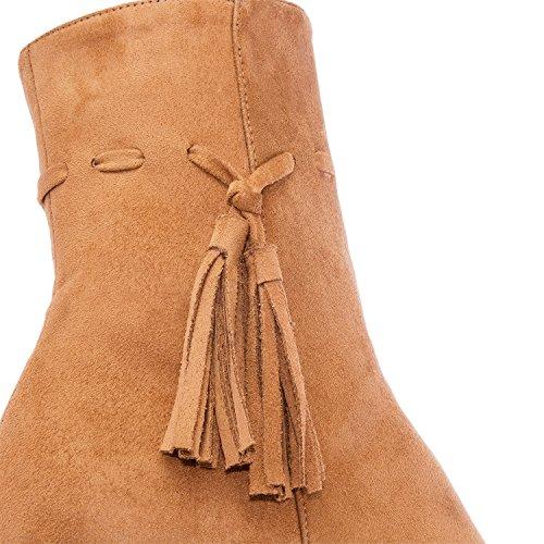 Andres Machado AM4066.Bottines Nubuck .Petites et Grandes Pointures.32/35-42/45. Pour Femmes. Camel