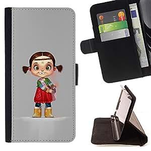 """For Motorola Moto E ( 2nd Generation ),S-type Carácter de la India los niños del cabrito Madre"""" - Dibujo PU billetera de cuero Funda Case Caso de la piel de la bolsa protectora"""