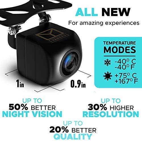 Backup Camera Night Vision - HD 1080p - Car Rear View Parking Camera - Best 170° Wide View Angel - Waterproof Reverse Auto Back Up Car Backing Camera - High Definition - Fits All Vehicles by Yanees by YANEES (Image #1)