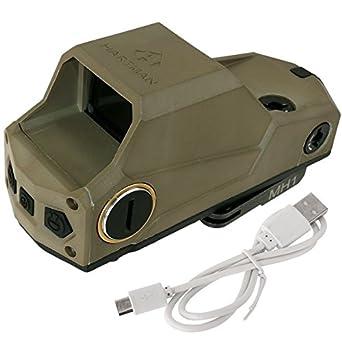 MH1タイプ USB充電可能! スコープ ANS optical ミリタリー エアガン サバイバルゲーム HARTMAN ドットサイト /(BK ブラック DE デザートカラー/) レッドドット サバゲー