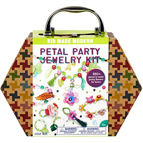Kid Made Modern Petal Party Jewelry Making Kit - Kids DIY Crafts Supplies