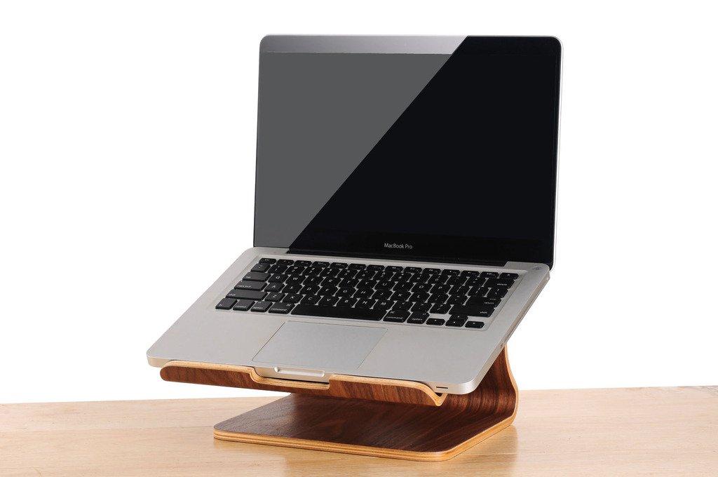 COCOPARK® universal verticales de madera de escritorio estante de madera del soporte vertical del ordenador portátil Cooler Pad Notebook estante de ...