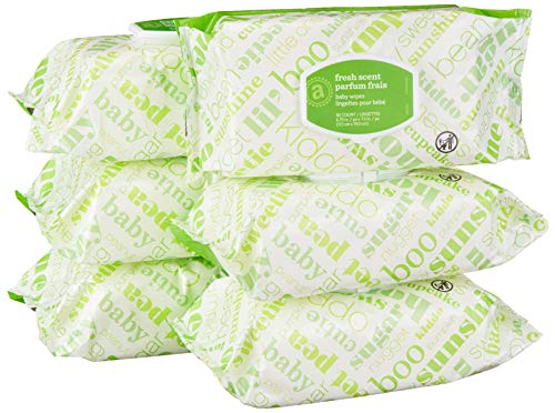 Amazon Elements Baby Wipes, Fresh Scent, 480 Count, Flip-Top ()