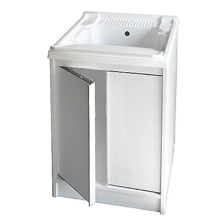 FRASCHETTI Mobile Lavatoio Lavello in Resina e Pvc con Piano Lavaggio  Richiudibile 60X50X84h cm