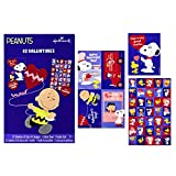 Hallmark Peanuts Valentines Day Cards for Kids, Charlie Brown (32 Valentine Cards, 35 Stickers, 1 Teacher Card)
