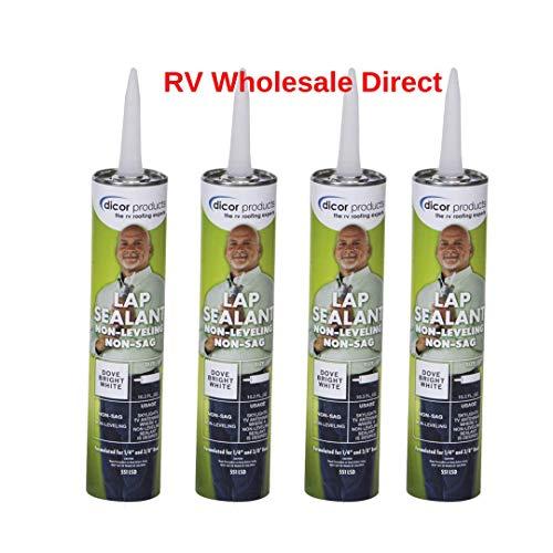 Dicor 551LSD-1 Non-Sag, Non-Leveling, Lap Sealant, Dove Bright White (4 Pack) (Dicor Lap Sealant)