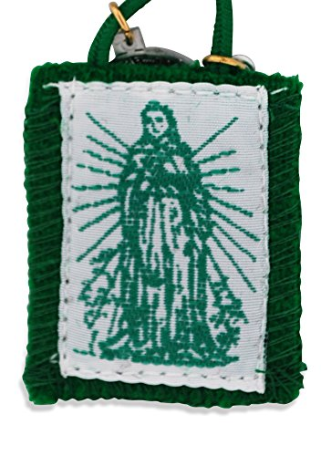 (Authentic Catholic Scapular - 100% Wool (Immaculate Heart of Mary Green)