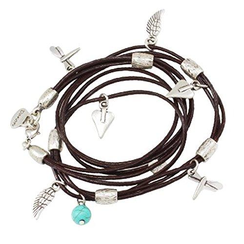 Danon Bracelet en cuir et breloque Turquoise