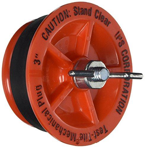 Plug Pipe Drain - IPS 78034 Twist-Tite Mechanical Test Plug, 3-Inch Length, Red