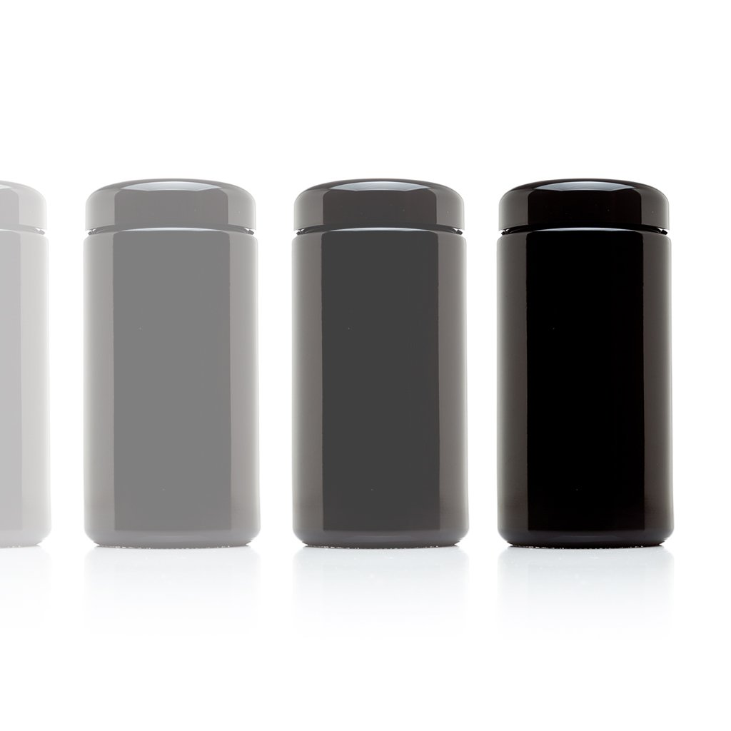 Infinity Jars 500 ml (17 fl oz) 10-Pack Tall Large Black Ultraviolet Glass Wide Mouth Screw Top Jar