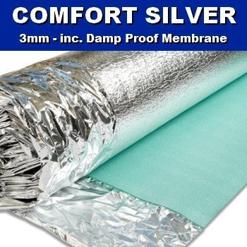Amazon Comfort Silver 3mm Laminate Wood Floor Underlay With
