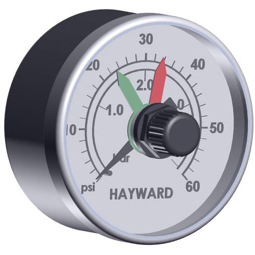 Spa Filter Pressure Gauge (Hayward ECX2712B1 Boxed Pressure Gauge with Dial Replacement for Select Hayward Filters)