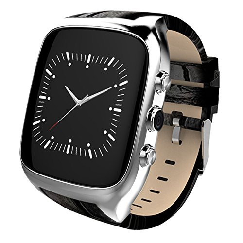 Waterproof Smart Watch Android 5.1 Mobile Phone MTK6580 with GPS - Silver by OLSUS
