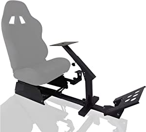 Marada Racing Wheel Stand Simulator Seat Cockpit with Adjustable for T500, Fantec, T3PA/TGT, G25, G37, G29/T300RS Racing Sim Cockpit Racing Stand Seat Base Shifters,Seat and Pedals Not Include