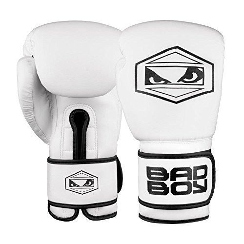 Bad Boy Strike Training Boxing Gloves White/Black - 16 oz