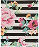 Pinnacle Frames and Accents 4UP Floral Stripes Album, Black