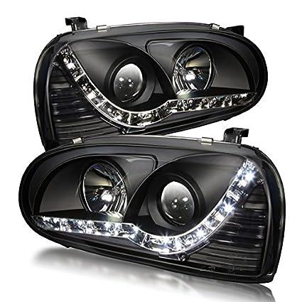 Premium 93 - 98 Volkswagen Golf 3 DRL & Proyector Faros - (negro ...