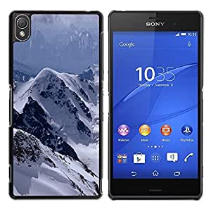 LECELL -- Funda protectora / Cubierta / Piel For Sony Xperia Z3 D6603 / D6633 / D6643 / D6653 / D6616 -- The Mountains Snowy Alps --