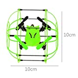 Sky Walker 1336 4CH 3 mode Drone 2.4G 6Axis Quadcopter round Rollover Remote color:green