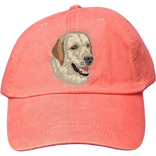 Cherrybrook Dog Breed Embroidered Adams Cotton Twill Caps - Coral - Labrador ()