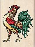 Inkadinkado Rooster Wood Stamp