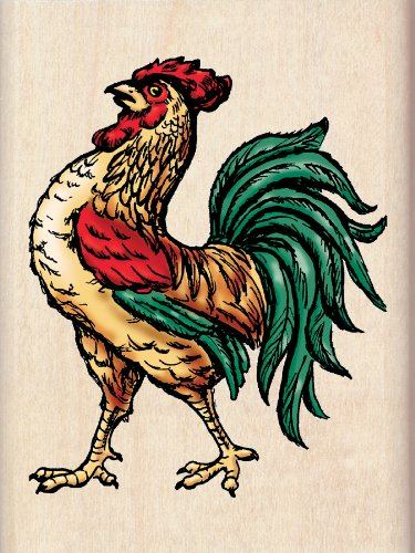 Inkadinkado Rooster Wood Stamp by EK Success