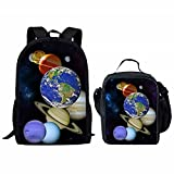 Sannovo Galaxy Printed Children School Bag Blue Kids Backpack Insulated Food Container