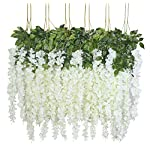 UArtlines-24-Pack-36-FeetPiece-Artificial-Fake-Wisteria-Vine-Ratta-Hanging-Garland-Silk-Flowers-String-Home-Party-Wedding-Decor-24-White