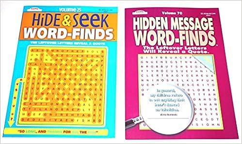 Kappa Hidden Message Word-Finds Volume 70 & Hide & Seek Word