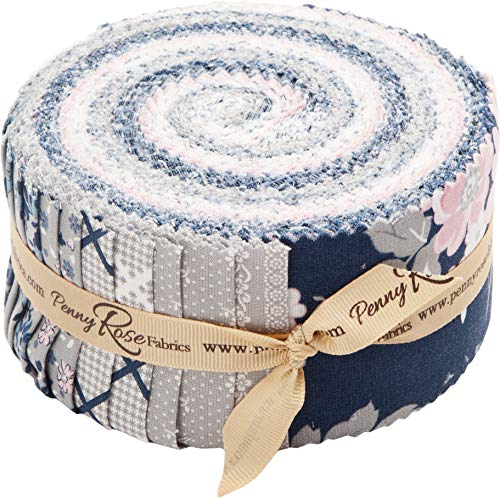 - Gerri Robinson Majestic Rolie Polie 40 2.5-inch Strips Jelly Roll Penny Rose Fabrics