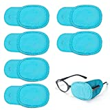 Frcolor Eye Patch for Glasses to Treat Lazy Eye/Amblyopia/Strabismus, 6Pcs (Blue)