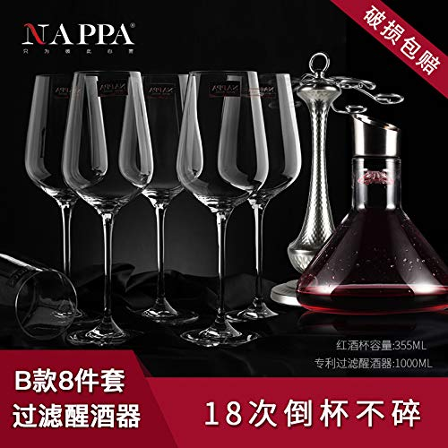home goblet European crystal wine glass glass decanter wine set ()
