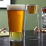 HighWave Beer Shot Light Glasses, Set of 2