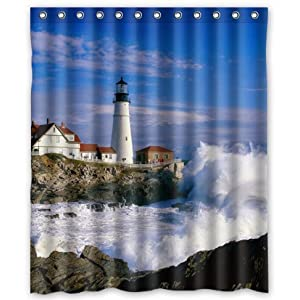 511fqx%2BIAgL._SS300_ 200+ Beach Shower Curtains and Nautical Shower Curtains