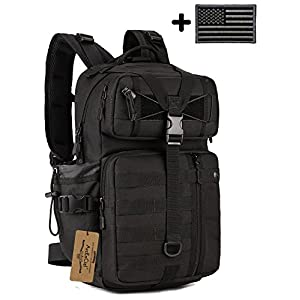 ArcEnCiel Tactical Outdoor Hydration Water Backpack Bag with Patch