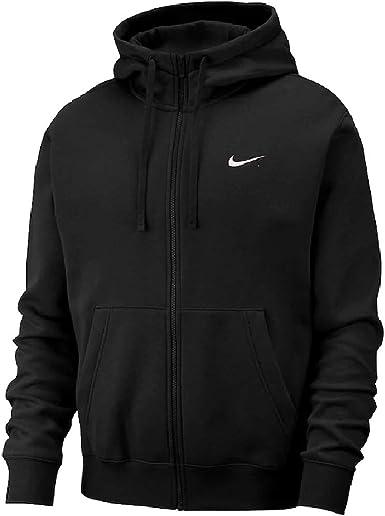 Nike Men's Sportswear Club Fleece Full-Zip Hoodie, Size XL, Black