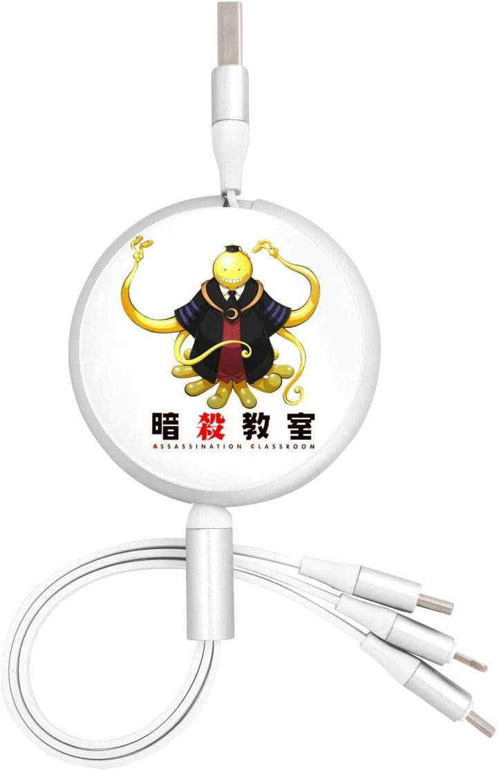 Pc Surface N//C Assassination Classroom Anime Round Three-in-One Charging Cable TPE Cable Aluminum Alloy Shell