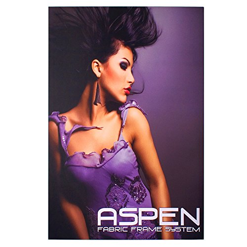 (Personalized Aspen Single Slim Fabric Frame - 4' x 5', Graphic Package (Frame & Graphic))