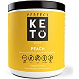 Perfect Keto Peach Exogenous Ketones: Base BHB Salts Supplement- Ketones for Ketogenic Diet Best to Support Energy, Focus and Ketosis Beta-Hydroxybutyrate BHB Salt
