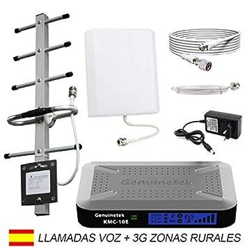 Genuinetek Amplificador Cobertura móvil gsm 3G 900 MHz para Zonas Rurales de Mala Cobertura: Amazon.es: Electrónica