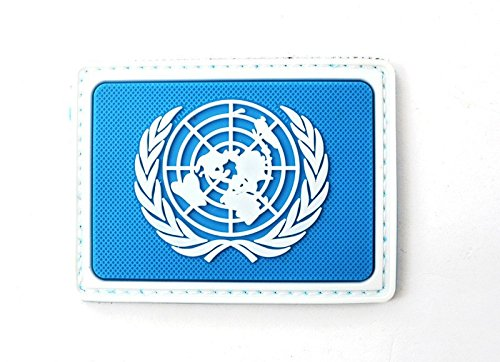 Las Naciones Unidas Naciones Unidas Naciones Unidas Azul PVC Airsoft Patch Patch Nation
