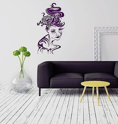 Amazon.com: Wall Stickers Vinyl Decal Gothic Abstract Woman Coolest ...