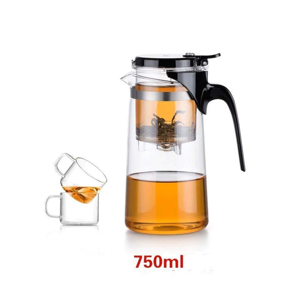 Kinue Exquisite Tea Cups Saucers Set Set Coffee Cup Elegant Cups Tea Mug Teapot Glass Exquisite Cups Heat Resistant Teapot Tea Set Filter Tea Cups 750ML (Size : 1 Pot+2 Cups)