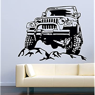 "Car Wall Decals 4x4 Jeep Decor Stickers Vinyl MK0639 (w:60"" h:48""): Baby"