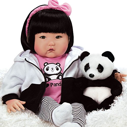 (Paradise Galleries Lifelike Asian Reborn Baby Doll Bamboo, 20 inch Chinese Girl in GentleTouch Vinyl & Weighted Body, 7-Piece Doll Gift Set)